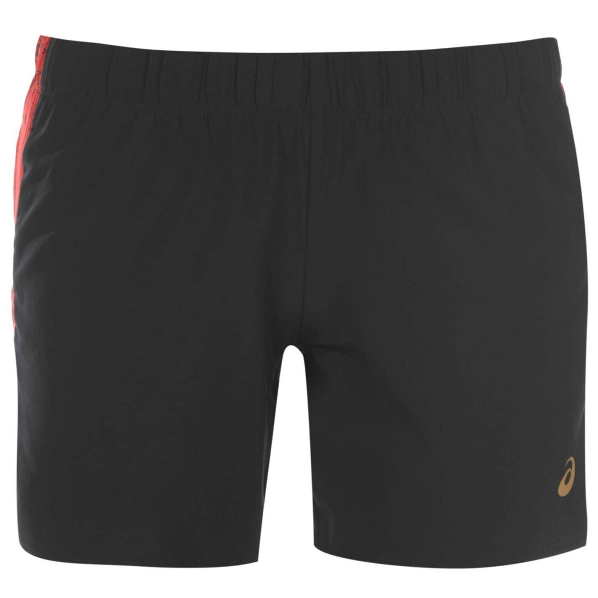 Asics 5.5 In Kurzhose Shorts Damen Schwarz_Rot