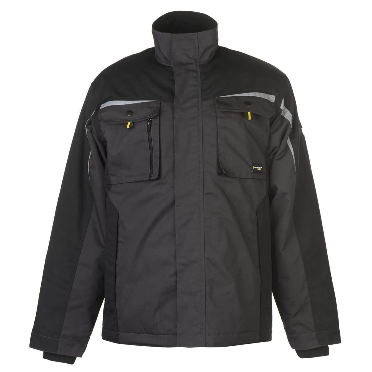 Dunlop Craft Warm Winterjacke Jacke Herren Schwarz_Dunkelgrau