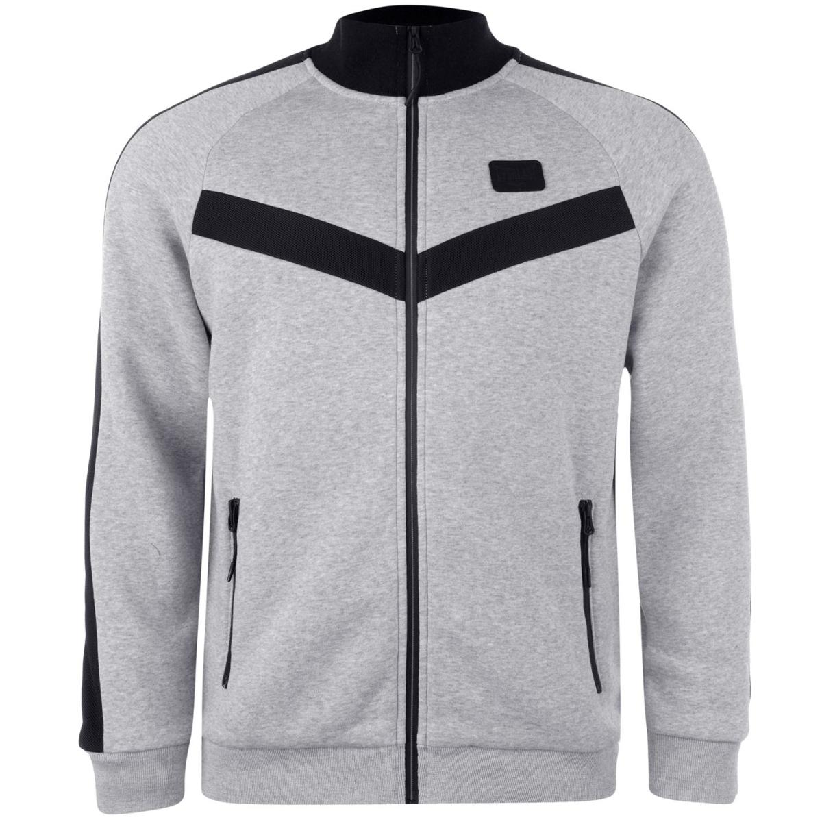 Everlast Premium Zip Sweatshirt Herren Pullover Grau_Marl