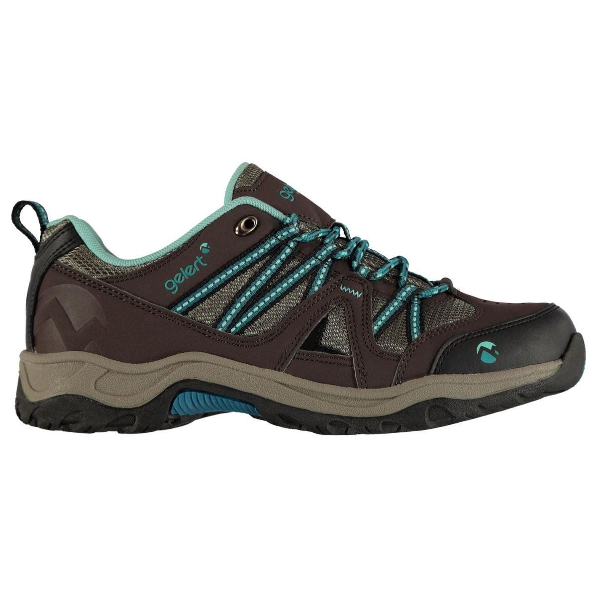 Gelert Ottawa Low Damen Wanderschuhe Brown_Türkis
