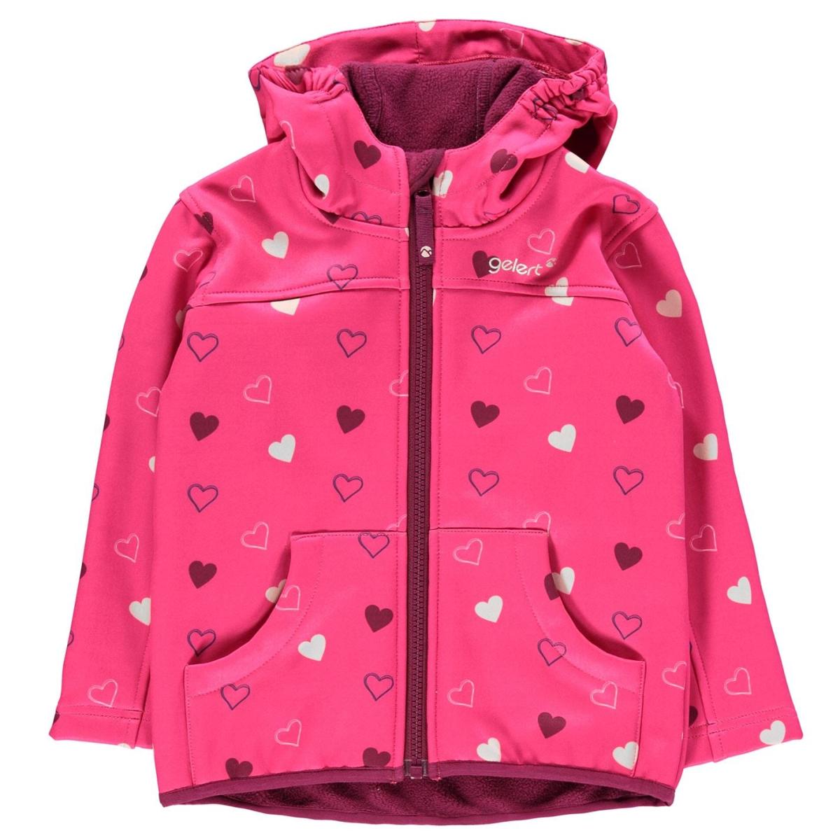 Gelert Softshell Jacke Kinder Jungen Herbst Frühling Leichtgewicht Casual 8000 Pink_Hearts