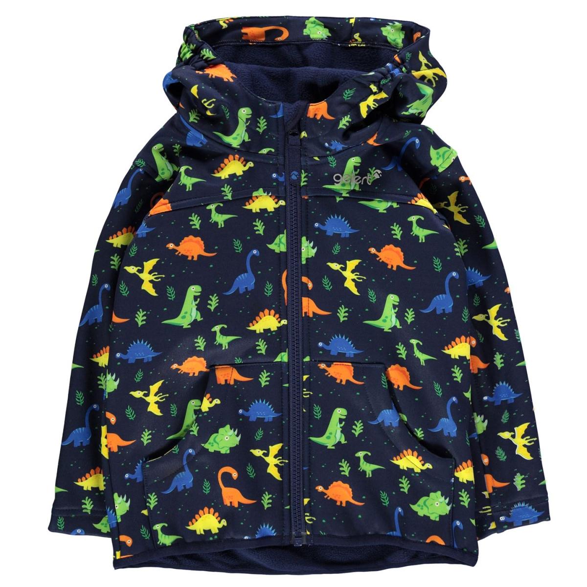 Gelert Softshell Jacke Kinder Jungen Herbst Frühling Leichtgewicht Casual 8000 Navy_Dinosuar