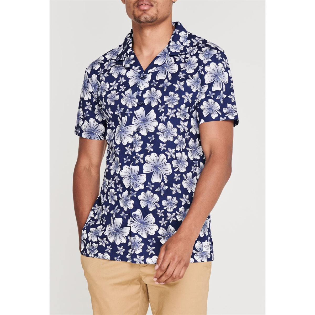 Hot Tuna Kurzarm All Over Print Hemd Shirt Herren Hibiscus