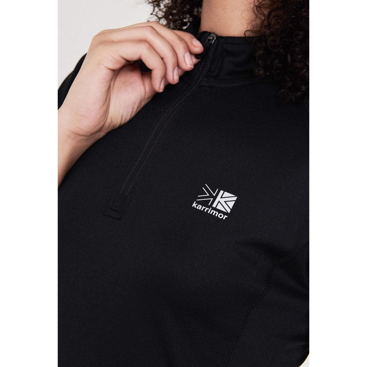Karrimor Quarter Zip Kurzarm Polohemd Poloshirt Damen