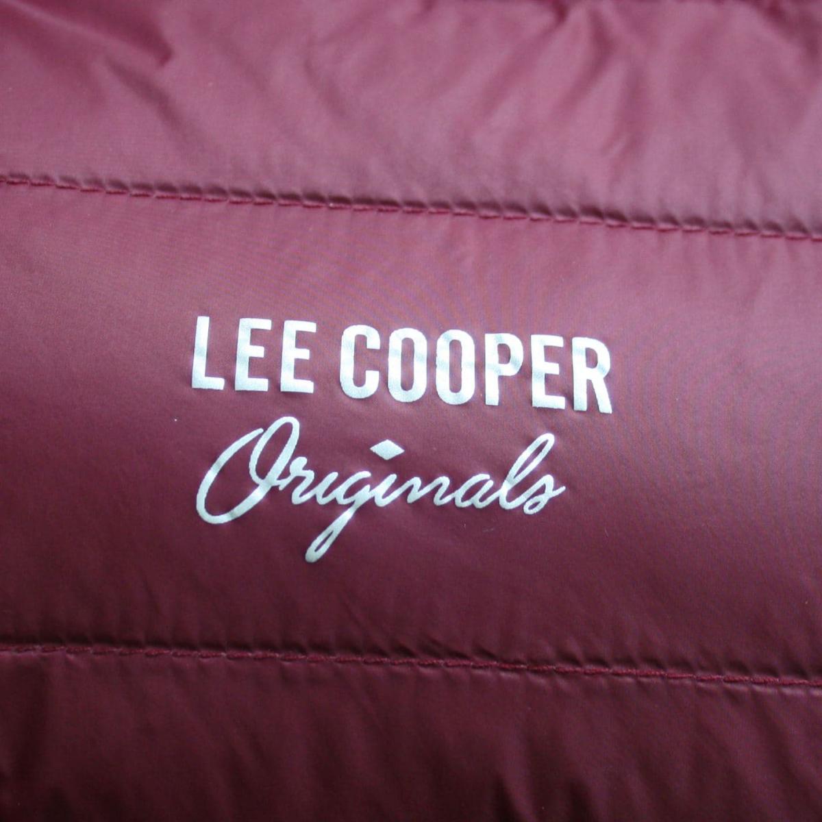 Lee Cooper Xlite Down Winterjacke Jacke Herren Burgundy