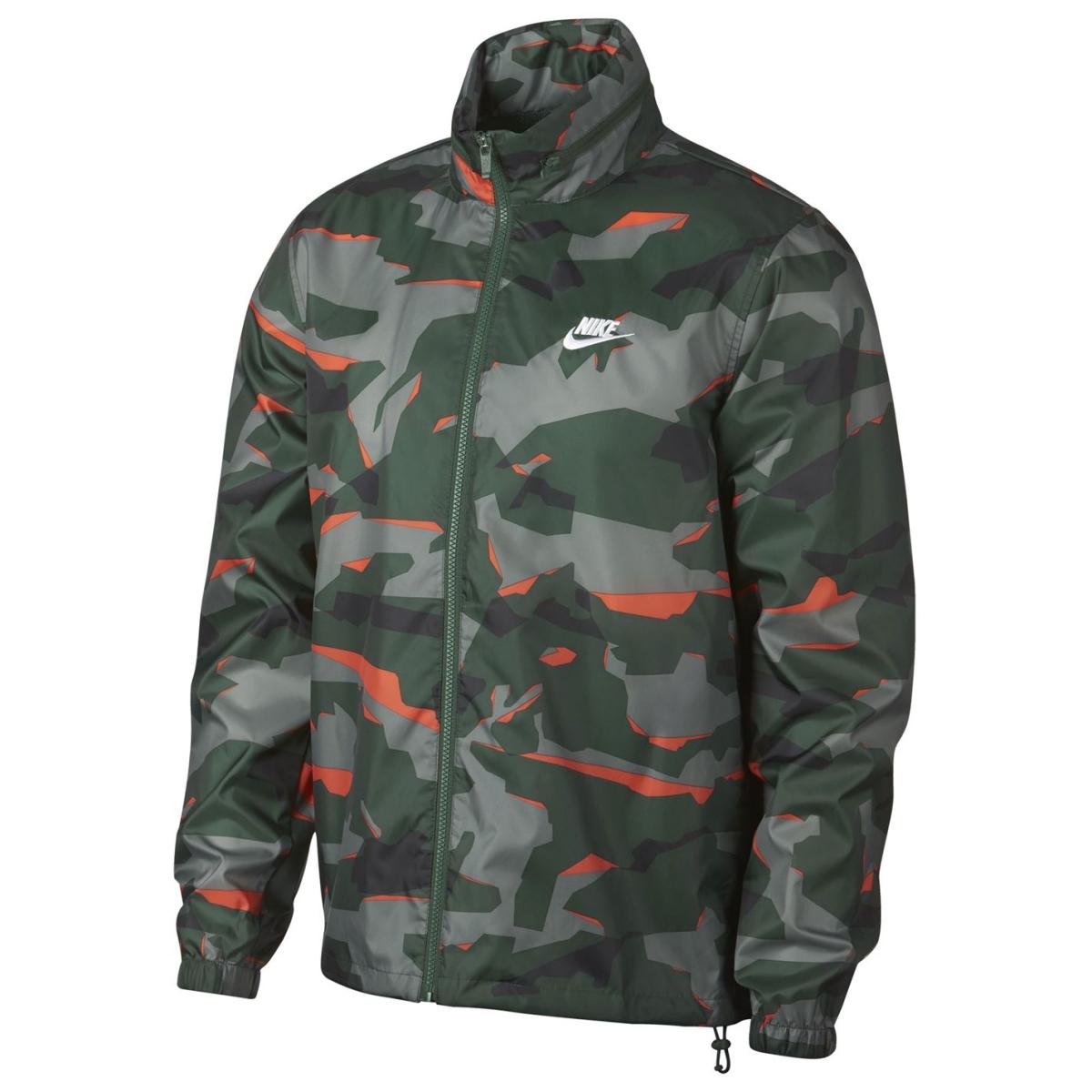 Nike Camo Windjacke Herren Jacke Herrenjacke 1117 Grün_Camo