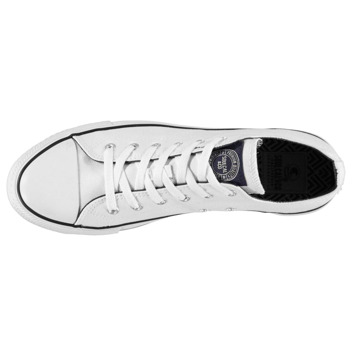 SoulCal Turnschuhe Laufschuhe Herren Sportschuhe Sneaker Canvas Low 6312