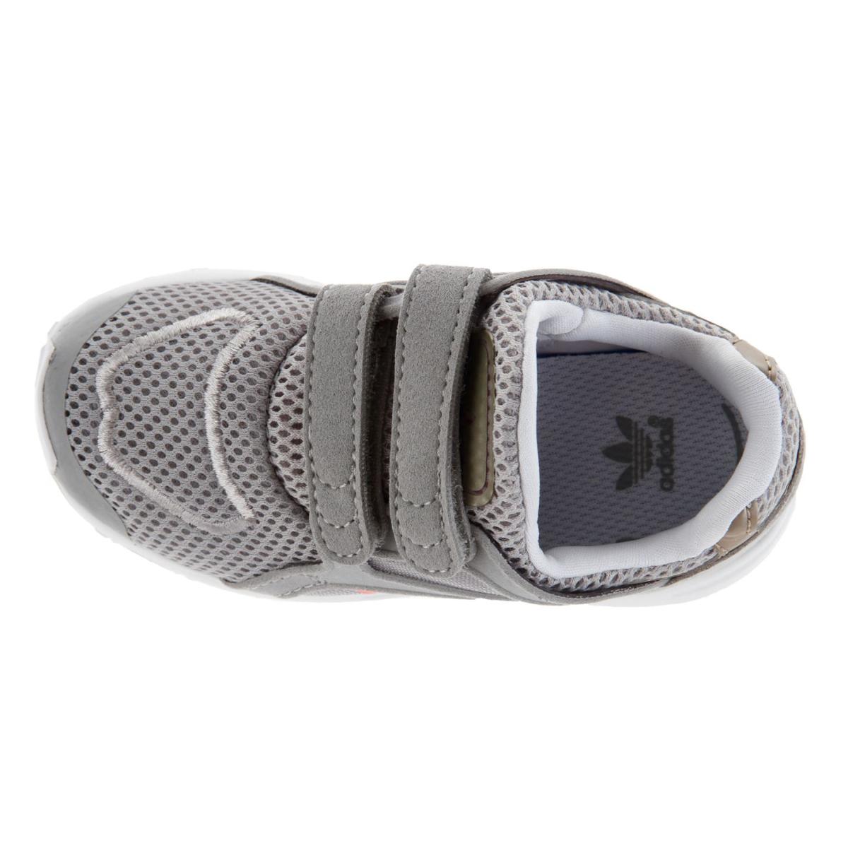 adidas Originals Kleinkinder Turnschuhe Racer Litecf Grau_FlashRot