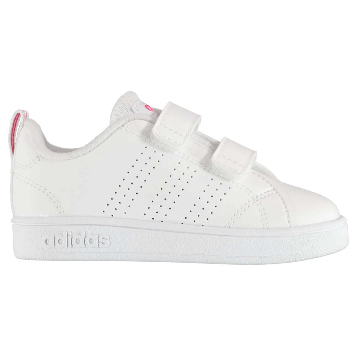 adidas Mädchen Turnschuhe Advantage Clean Weiß_Pink