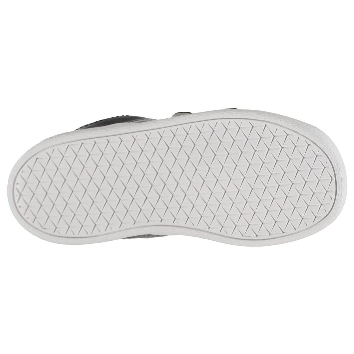 adidas Kleinkinder Turnschuhe Vl Court 2 Schwarz_Grau_Wht