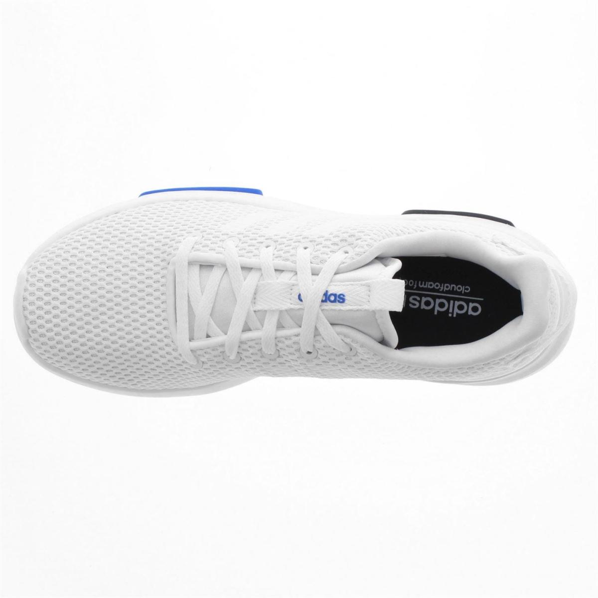 adidas Cloudfoam Racer Herren Turnschuhe Sportschuhe Wht_Wht_Blk_Blu