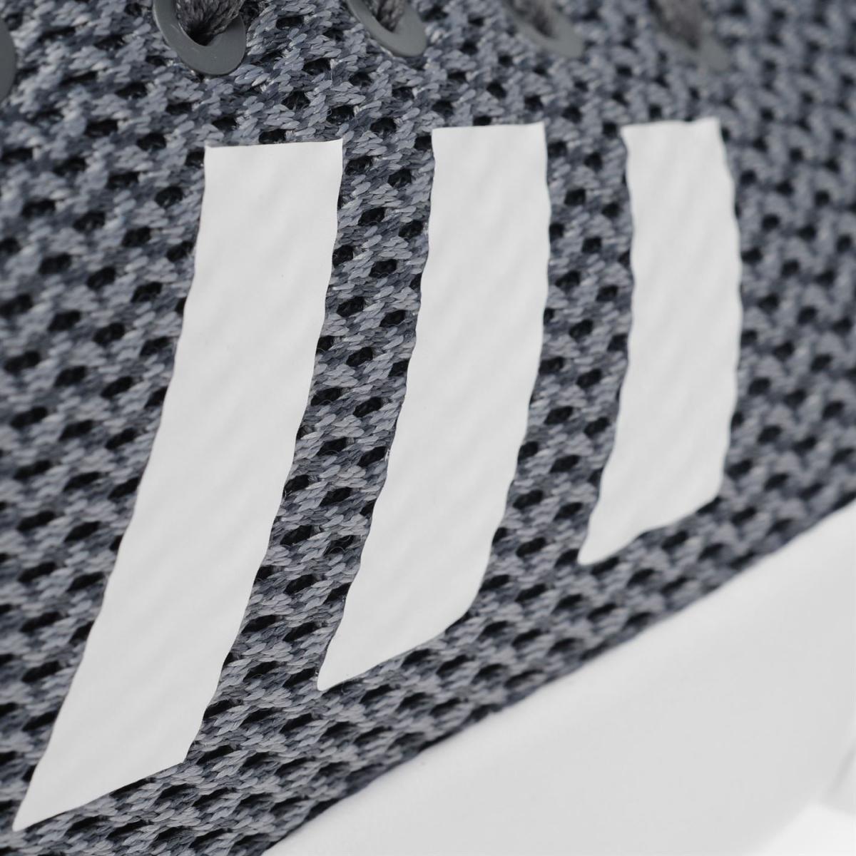 adidas Cloudfoam Racer Herren Turnschuhe Sportschuhe Gry_Wht_Blau