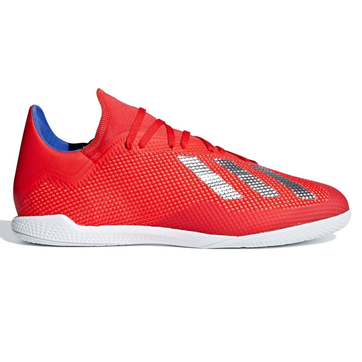 adidas X Tango 18.3 Herren Indoor Fußballschuhe Rot_Silver_Blau