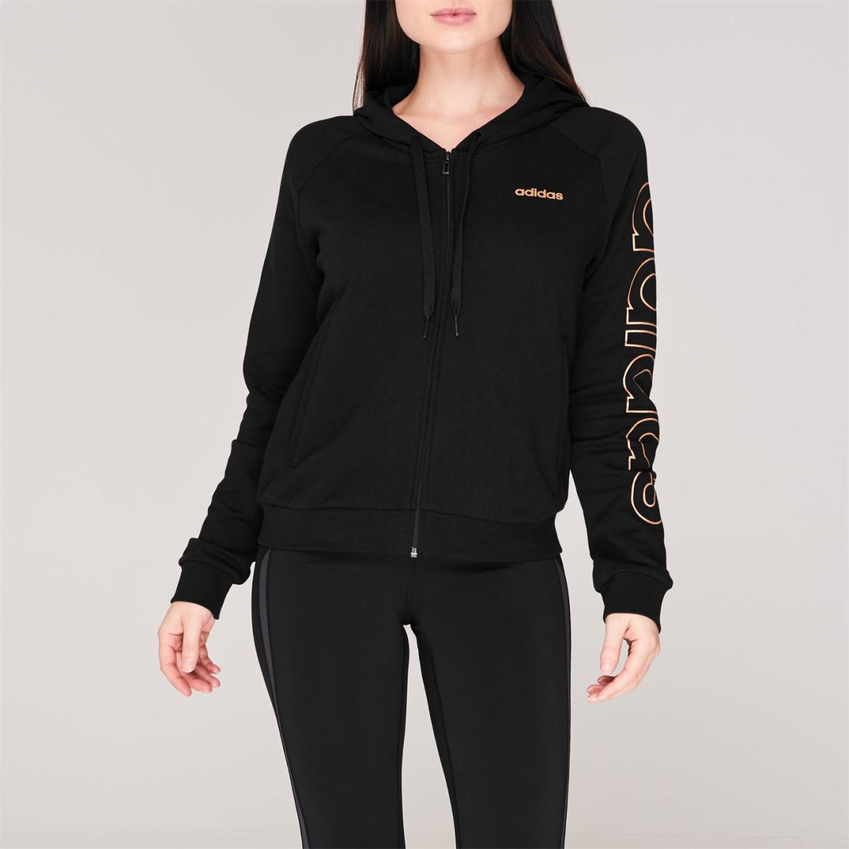 adidas Essential Kapuzenjacke Jacke Kapuzenpullover Damen Sweatshirt Pullover 23